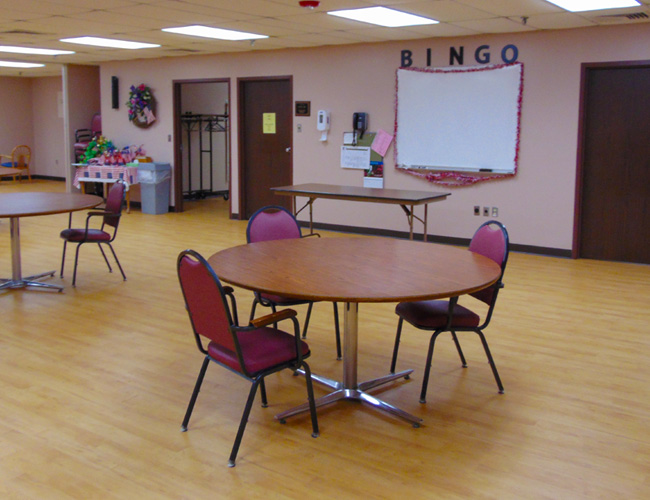 The Auditorium is used for anything from special events to BINGO and more.
