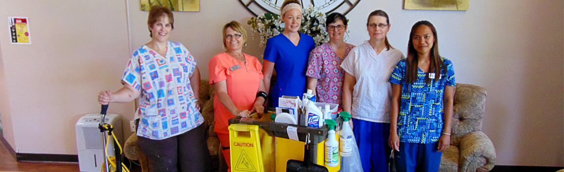 Housekeeping staff at Rolling Hills in Sparta, WI