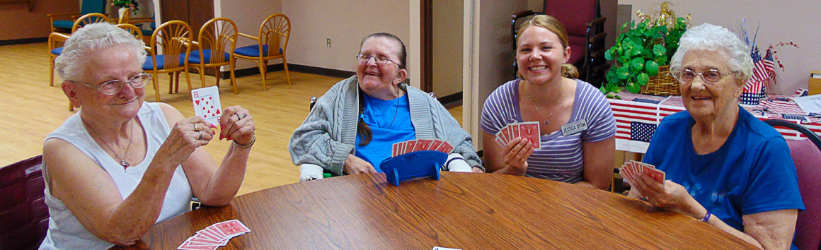 Residents at Rolling Hills Playing Cards