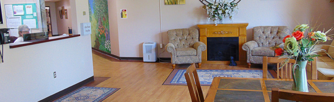 Reception Lobby at Rolling Hill Rehabilitation Center
