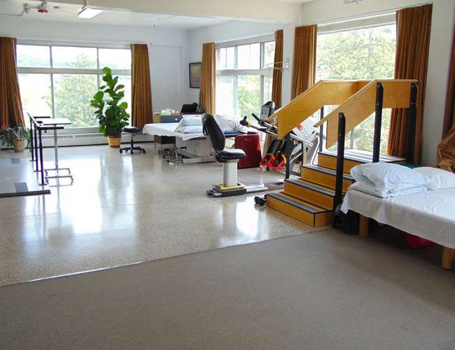 Rehabilitation and therapy room.